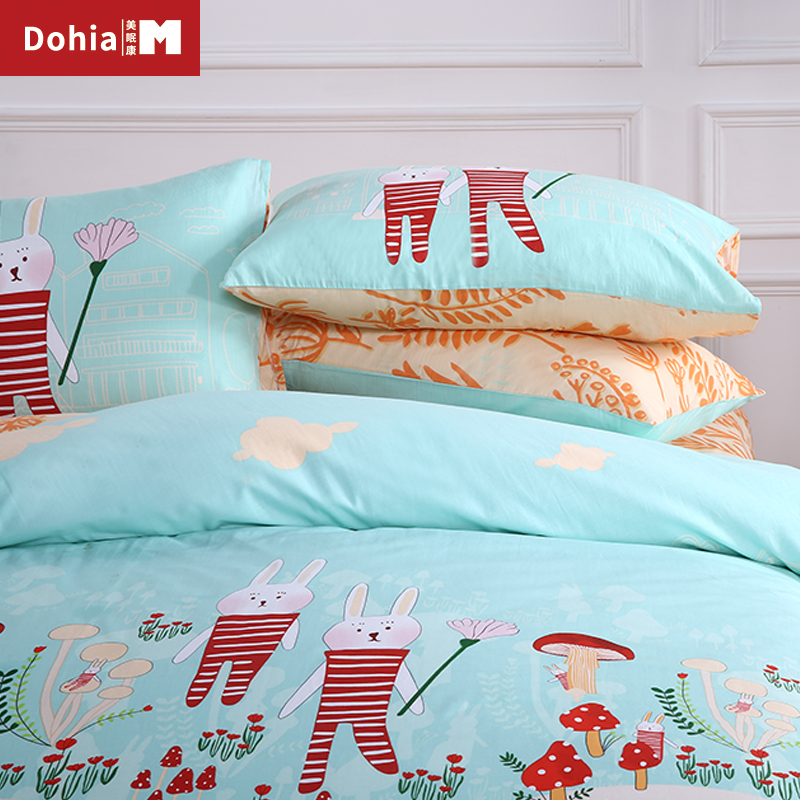 Dohiammk Home Textile Cotton Childrenu0027s Cartoon Wind Sheets Pillowcase Three  Piece Of Cotton 4pcs Bedding Sets In Bedding Sets From Home U0026 Garden On ...