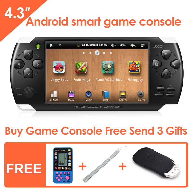 Jxd s601 4 3 inch touch screen android smart handheld game console game player tablet pc support - Android console application ...