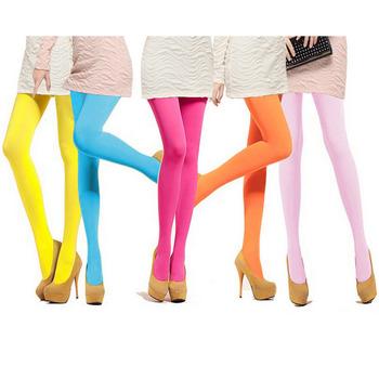 18 kolorów kobiet cukierki kolor ciepłe seksowne rajstopy 120D aksamitne rajstopy bezszwowe duże elastyczne długie pończochy tanie i dobre opinie mooclound Stałe WOMEN 08790 spandex NYLON Tight Cienkie