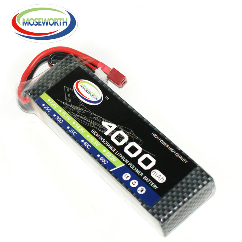 MOSEWORTH RC lipo Battery 4S 4000mah 14.8V 35C lipo batteria for quadcopter RC modlel aircraft Helicopter RC Drone AKKU moseworth 4s rc lipo battery 14 8v