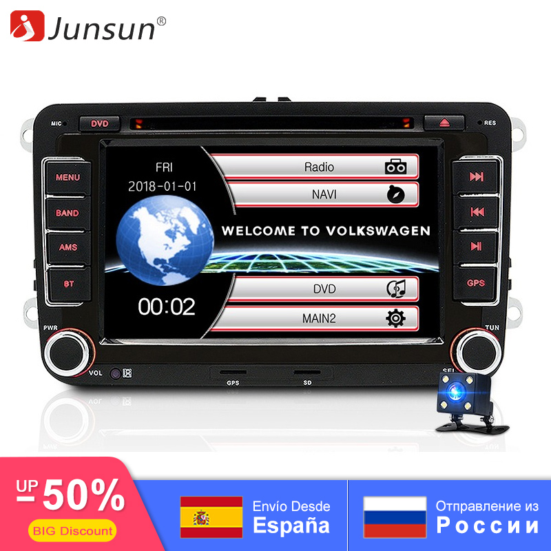 Junsun 7″ 2 din Car DVD GPS radio stereo player for Volkswagen VW golf 6 passat b6 B7 Touran polo Tiguan seat leon skoda octavia