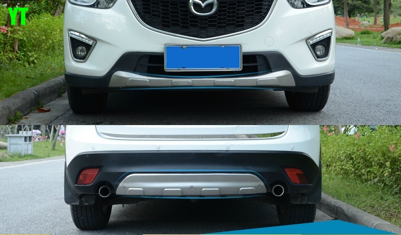 Auto front and rear skid plate skid bar for mazda cx 5 2012-2016,stainless steel ,2pcs/lot