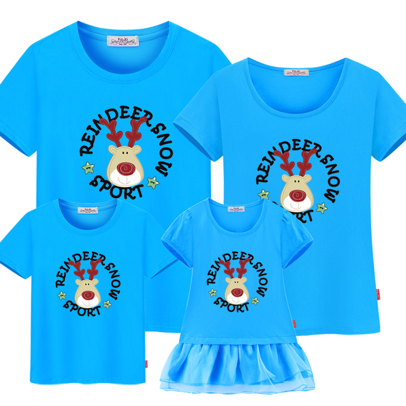 2016 summer Father  Mother & Kids Outfits Family Clothing Family Look  Family Matching Clothes casual   short-sleeved T-shirt