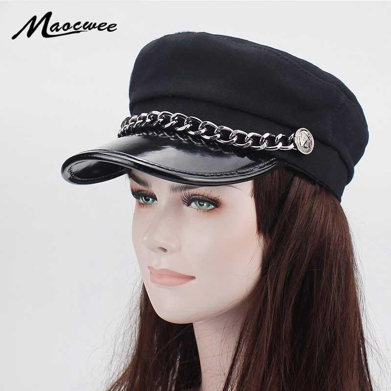 buy online 852b0 435ec ... where to buy women army military cap girls hats sailor gorras patrol  caps female fashion navy