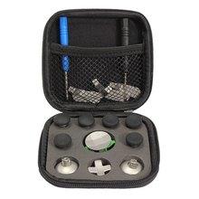 1 Unidades reemplazo parachoques del metal botones de disparo pulgar agarra palo para xbox one controlador de élite con destornilladores bolsa de almacenamiento