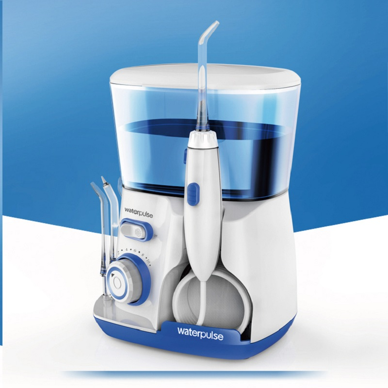 Dental Water Flosser Jet - Oral Irrigator with 5 Tip & 800ml Water Reservoir Dental Hygiene for Braces and Teeth Whitening h2ofloss electric oral irrigator jet teeth waterflosser dental shower cleaning machine dental water flosser teeth whitening tool