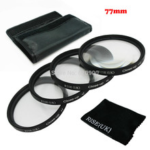 RISE(UK) 77MM Close Up +1+2+4+10 Macro Lens set for Canon SONY NIKON all Camera + Cleaning cloth free