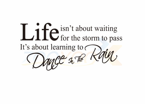 Life Isnt About Waiting Inspirational Quote Wall Decal 8016