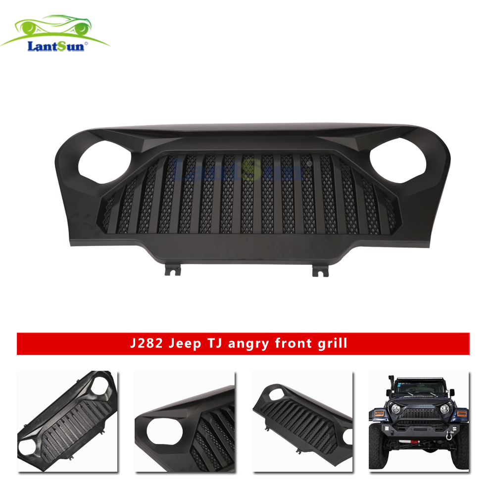 Front Grill Gladiator Vader Front Matte Black Grille Grid Grill j282 for jeep tj 1997-2006 ABS plastic auto products LantsunFront Grill Gladiator Vader Front Matte Black Grille Grid Grill j282 for jeep tj 1997-2006 ABS plastic auto products Lantsun