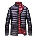2016 do sexo masculino A alta qualidade A alta qualidade para baixo casaco estande gola casuais outerwear Grande jaqueta Grandes estaleiros jaqueta 8XL