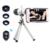 Teléfono con cámara Kit de Lentes 12x Zoom Telescopio Teleobjetivo Macro Amplia lentes de ojo de pez de ángulo para samsung s3 s4 s5 s6 s7 edge nota