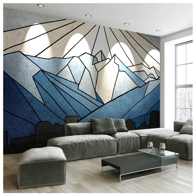 tuya art wholesale calm mountain poster mural wallpaper for livingtuya art wholesale calm mountain poster mural wallpaper for living room office free shipping discount