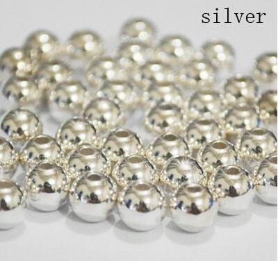 10mm 200pcs/lot Silver/gold/rhodium Plating Round Acrylic CCB Plastic Spacer Beads Rings F739