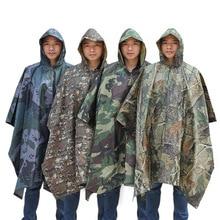 Multi-functional Polyester Adult Raincoat Waterproof Outdoor Cloak Men Women Rain Jacket Impermeable Camping Fishing Poncho