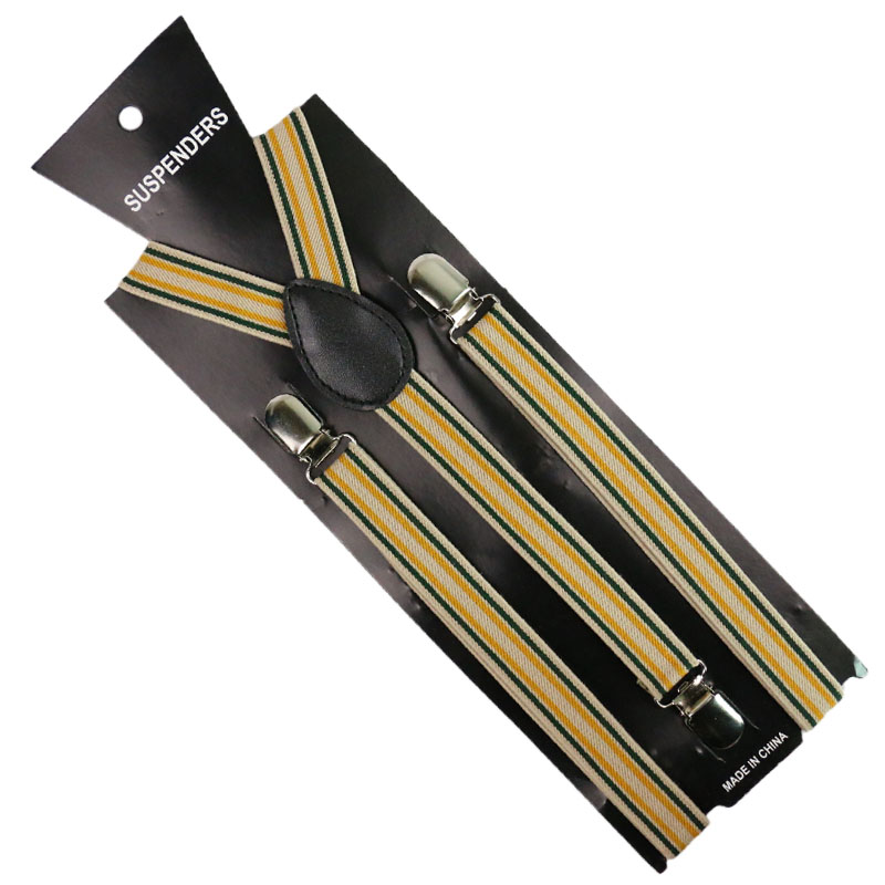 New Fashion Unisex 2 5cm Wide Black White Red Striped Adjustable Men Womens Y Back Suspenders in Men 39 s Suspenders from Apparel Accessories