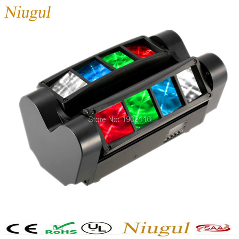 Niugul HOT Best quality led beam Portable Mini LED Spider light RGBW Beam Light  DMX512 stage lighting effect Wedding party lamp niugul 10w rgbw mini led beam moving head light 10w led beam lamp nightclub bar lights dmx512 stage effect light 10w dj lighting