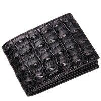 100% brand genuine alligator Men's Wallet credit card money cash holder luxury money clip for business men