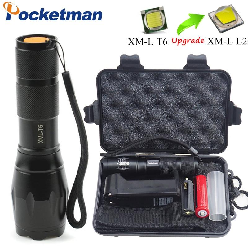 Lights & Lighting 18650+charger+box Quality First United Linterna Led Flashlight Xml-t6/l2 3800lm Tactical Flashlight Aluminum Waterproof Zaklamp Hunting Flash Light