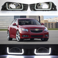 2Pcs High Quality 2pcs Lot LED Car Auto Daytime Running Light DRL Daylight Lamp For Chevrole