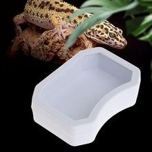 Кормушка для рептилий, пластиковая миска для кормления, 3 размера, Черепаха Ящерица, змея, таз, Oct-24B