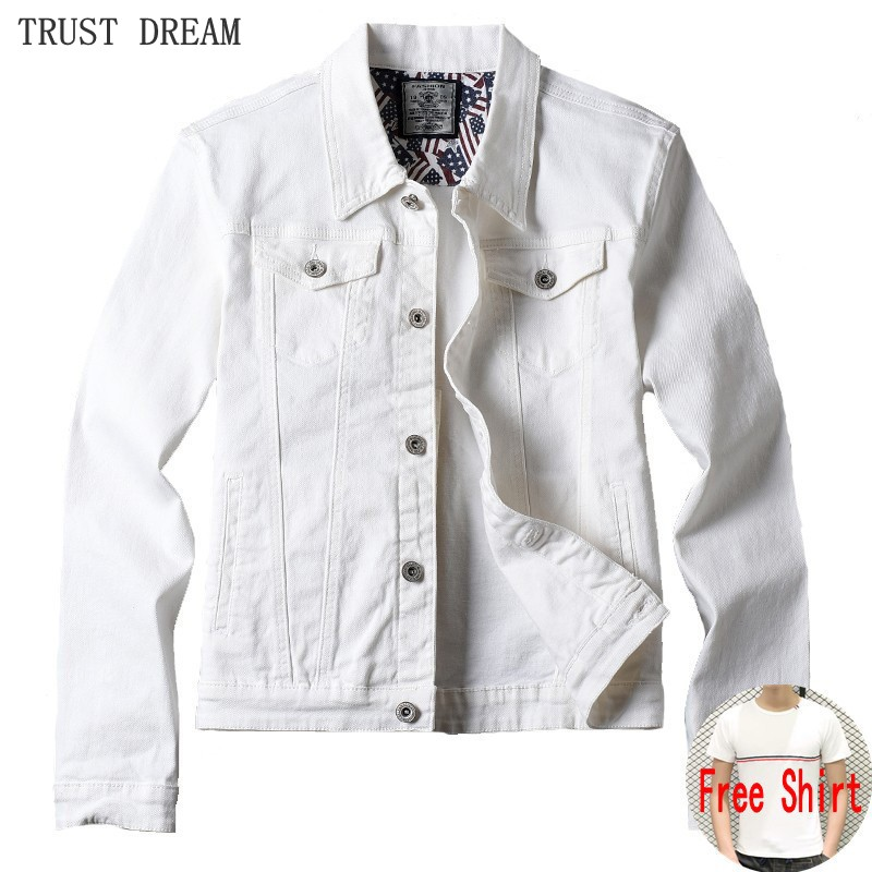 Free Gift Spring Autumn Fashion Mens Slim Short Denim Jackets Coat Casual Cotton 4colors Outerwear Mens Personal Jean Jacket