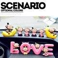 Творческие милые украшения автомобиля мультфильм обезьяна кукла автомобильных интерьера украшения