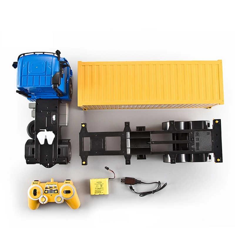 RC грузовик 2,4 г высокоскоростной автомобиль электрическая модель игрушка контейнерный грузовик имитация света игрушки для детей подарки на день рождения