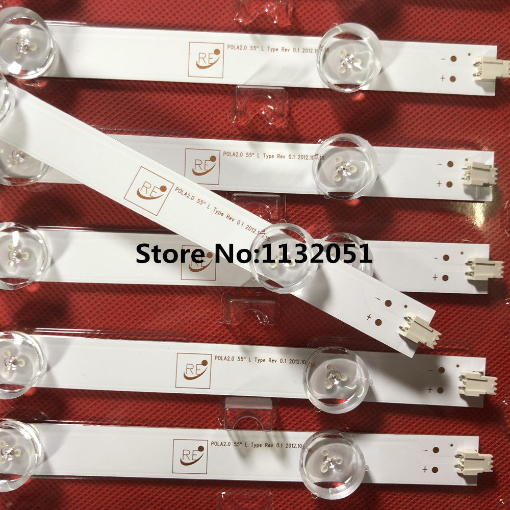 14 PCS/set <font><b>LED</b></font> backlight strip bar LZ55O1LCEPWA A B for <font><b>LG</b></font> <font><b>55</b></font> <font><b>inch</b></font> <font><b>TV</b></font> 55LN5400 55LN5200 INNOTEK POLA2.0 <font><b>55</b></font> R L type image