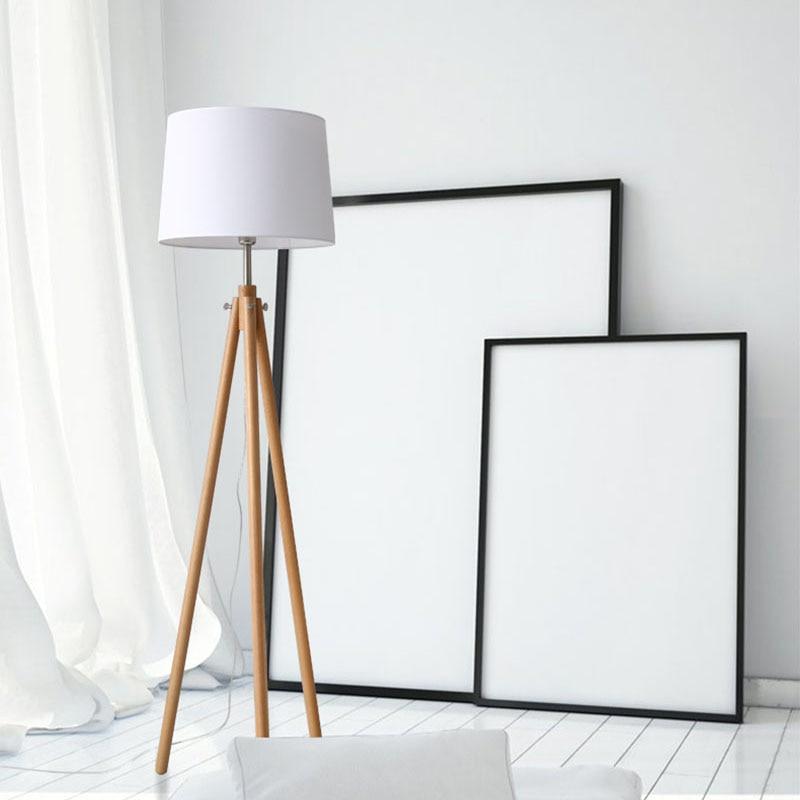 Moderne Minimalistische Houten Statief staande lamp eenvoudige leven ...