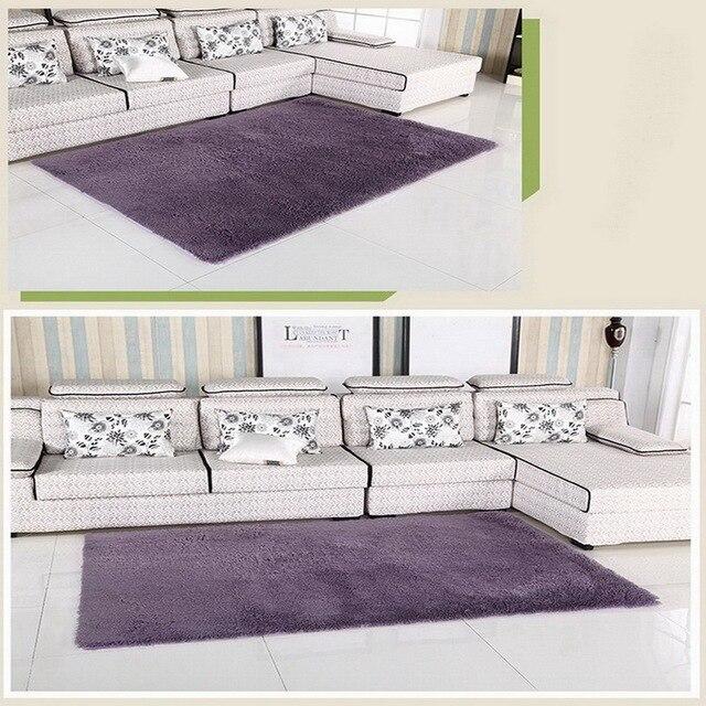 Maison salon/chambre tapis moderne Doux Antidérapant tapis Violet ...