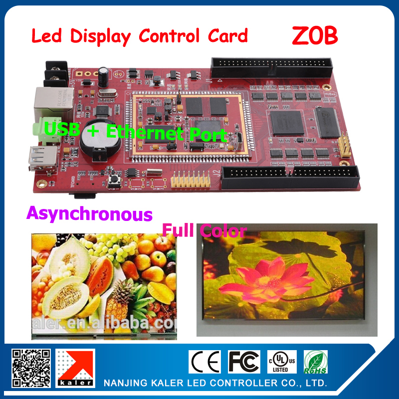 Video Led Screen Controller Asynchronous Led Display Led Sign Card Support 14 Different Languages Z0B 320*512 Pixel 50pin Port