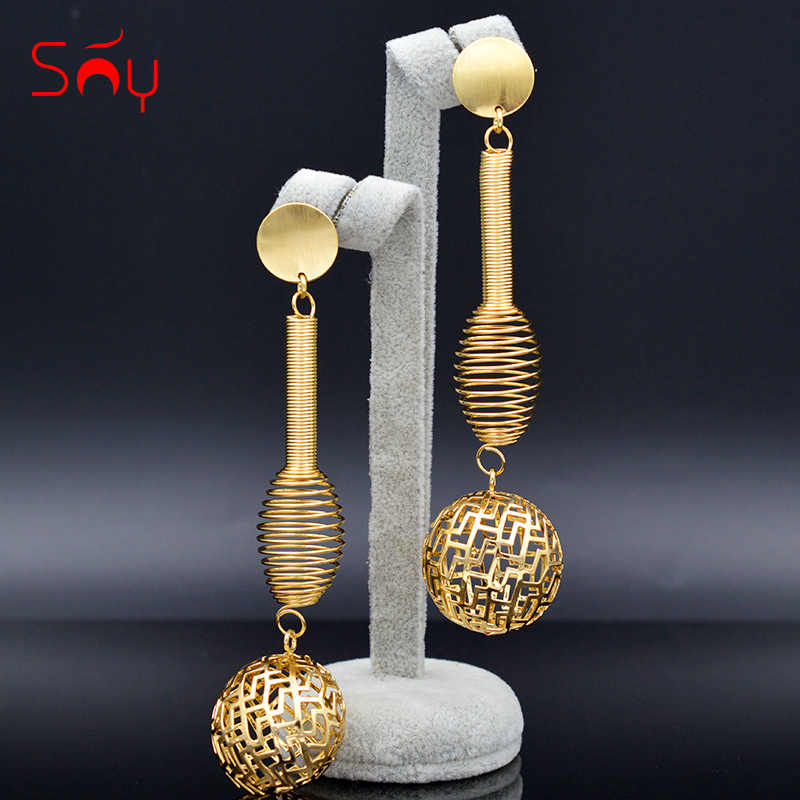 Sunny Jewelry Ethnic Jewelry Long Drop Dangle Earrings For Women Irregular Spring Earrings For Party Anniversary Daily Jewelry