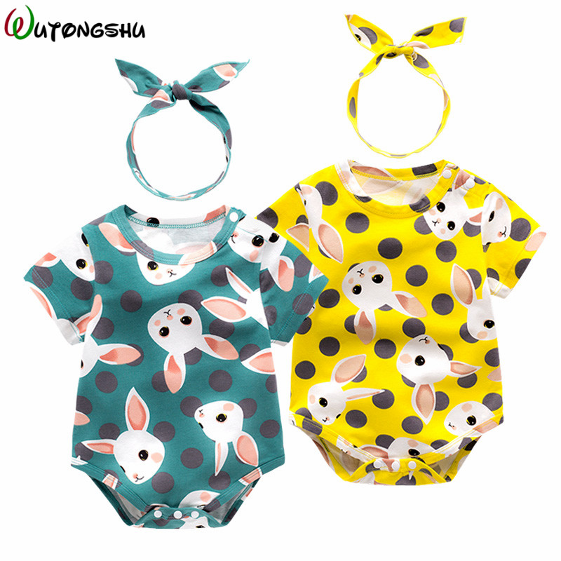 Baby Girls Clothes Set Summer Rabbit Baby Rompers Cotton Baby Girls Jumpsuits New Baby Clothing Overalls For Newborn 3M- 24M cotton baby rompers set newborn clothes baby clothing boys girls cartoon jumpsuits long sleeve overalls coveralls autumn winter