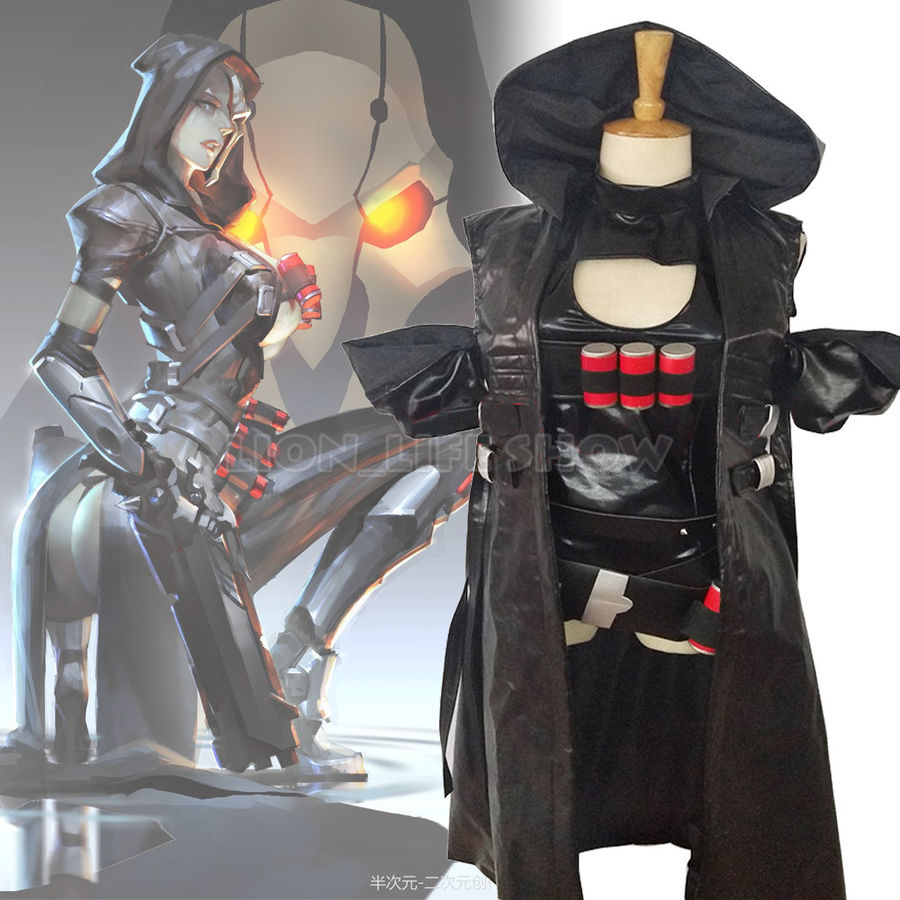 OW Reaper Genderbend Sexe Trans Femmes Cosplay Costume Outfit Set