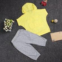 Kids Girls Boys Letter Print Clothes Set Sport