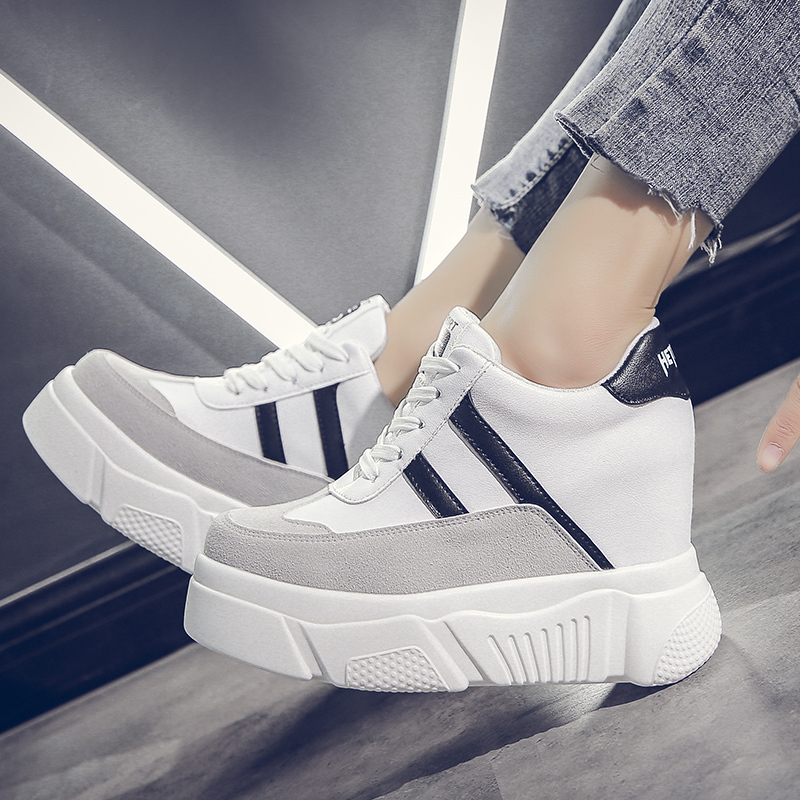 Sneakers women 2019 vulcanize shoes women mixed colors lace up shoes height increasing platform high heels walking shoes KY-14Sneakers women 2019 vulcanize shoes women mixed colors lace up shoes height increasing platform high heels walking shoes KY-14