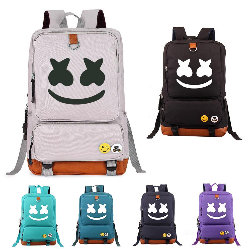 DJ Marshmello Printed Fashion Unisex Large Capacity Backpack Travel School Bag DJ Marshmello Printed Fashion Unisex Large Capacity Backpack Travel School Bag