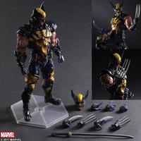 New Arrival Wolverine Figure LOGAN X Men Play Arts Kai Wolverine James LOGAN Howlett PVC Action
