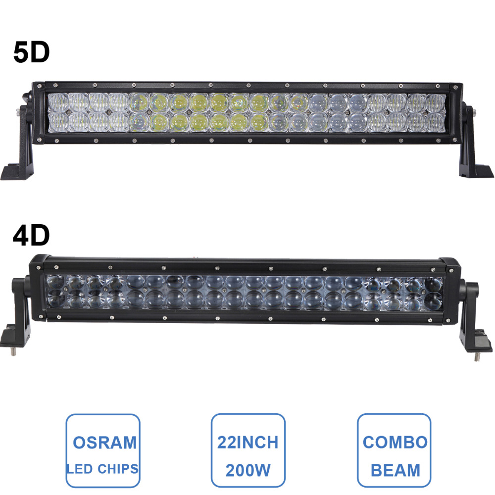 22'' 200W OFFROAD 4D 5D LED LIGHT BAR CAR TRUCK ATV SUV BOAT TRAILER YACHT WAGON PICKUP AUTO 4X4 4WD CAMPER DRIVING LAMP 12V 24V offroad 234w led light bar 37 12v 24v off road atv auto suv ute 4x4 truck trailer tractor boat yacht wagon pickup headlight