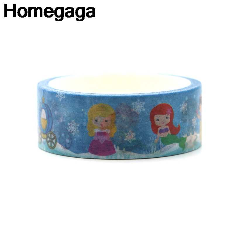 Homegaga ตัวอักษรเจ้าหญิงตกแต่ง vintage funny อัลบั้ม Washi เทป diy Scrapbooking กาวเทปกาวสติกเกอร์สติกเกอร์พิมพ์ D2161