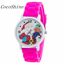 CocoShine A-829 Christmas Gifts Children Color Fashion Watch Silicone Strap Wrist Watch wholesale Free shipping