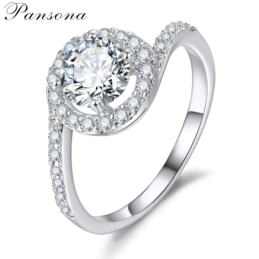 2018 New Fashion Wedding Rings Zircon S925 Making Silver Finger Ring For Women Original Jewelry Gift