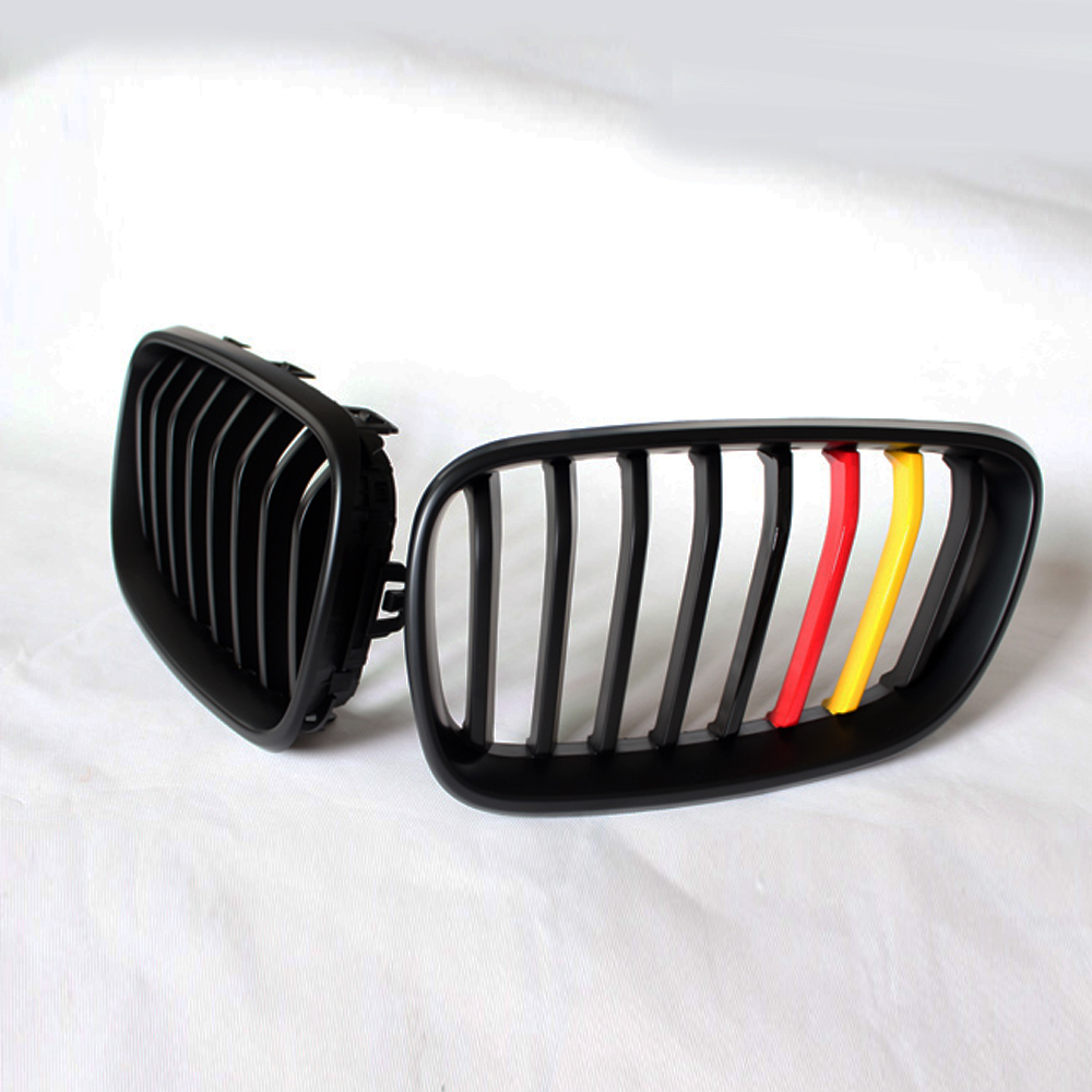 F22 German Flag 3 Colors front Body Kit ABS Auto Bumper Mesh Grill Grille for BMW F22 2014-2016 Car Styling front grille led emblem logo light 4 colors abs decorative grill lamp for f ord r anger t7 2016 2017 car styling