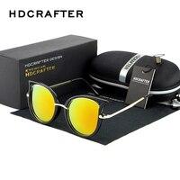 HDCRAFTER Cat Eyes Women S Sunglasses For Women Women S Sun Glasses Metal Brand Designer Vintage