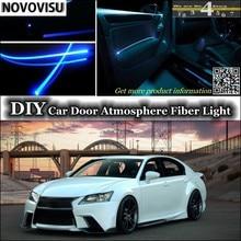 NOVOVISU Para Lexus GS 250 300 350 400 430 450 h Para TOYOTA Aristo Luz Ambiente interior Atmosfera Luzes Faixa de Fibra Óptica Porta