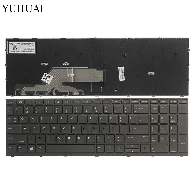 New US laptop keyboard for HP Probook 450 G5 455 G5 470 G5 English black/silver frame keyboard hp probook 450 g5 silver