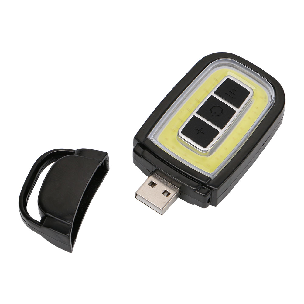 LED Flashlight Mini USB Rechargeable COB LED Torch Pocket Flash Light White/Red Lighting ...