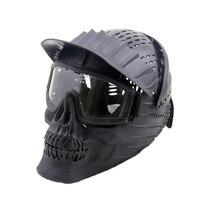 전술 헬멧 고글 마스크 전체 얼굴 마스크 분리형 고글 육군 군사 Wargame Airsoft 페인트 볼 마스크