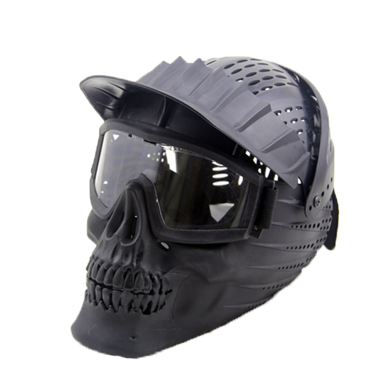 Tactical Helmet Goggle Mask Full Face Mask Detachable Goggles Army Military Wargame Airsoft Paintball Masks