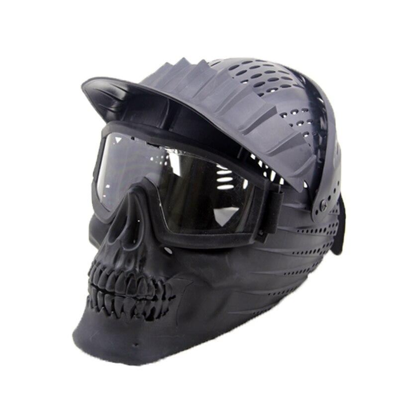 Tactique Casque Goggle Masque Plein Visage Masque Amovible Lunettes Armée Militaire Wargame Airsoft Paintball Masques
